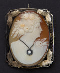 Estate Jewelry:Cameos, Vintage 14k Gold Shell Cameo. ...