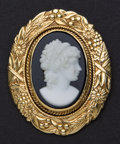 Estate Jewelry:Cameos, Estate 14k Gold Hardstone Black Onyx Cameo. ...