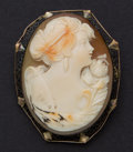Estate Jewelry:Cameos, Shell 14k Gold Cameo. ...