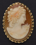 Estate Jewelry:Cameos, Estate 14k Gold Shell Cameo. ...