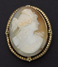 Estate Jewelry:Cameos, Antique 14k Gold Shell Cameo. ...