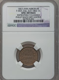1863 Philip Bach, Ann Arbor, MI, F-40A-2do, R.8 - Improperly Cleaned - NGC Details. Unc