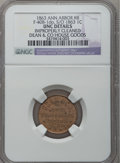 Civil War Merchants, 1863 Dean & Co., Ann Arbor, MI, F-40B-1do, R.8 - ImproperlyCleaned - NGC Details. Unc. ...