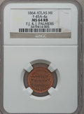 Civil War Merchants, 1864 F.J. & J. Palmer's Woolen Factory, Atlas, MI, F-45A-4a,R.9, MS64 Red and Brown NGC. ...