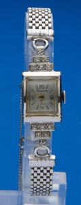 Timepieces:Wristwatch, Lucerne Ladies 14k Gold & Diamond Wristwatch. ...