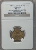 Civil War Merchants, 1863 M.H. Clark, Clarkston, MI, F-180A-1b, R.7, MS65 NGC....