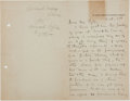 Autographs:Authors, Richard Harding Davis (1864-1916, American Writer and Journalist). Associational Autograph Letter Signed to Howard Pyle (1853-...