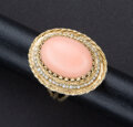 Estate Jewelry:Rings, Coral & Pearl Gold Ring. ...