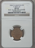 Civil War Merchants, 1864 M.H. Clark, Clarkston, MI, F-180A-3d, R.9, MS64 NGC. ...