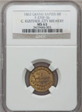 Civil War Merchants, 1863 C. Kusterer, Grand Rapids, MI, F-370F-3b, R.9, MS63 NGC....