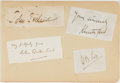 Autographs:Authors, Arthur Quiller-Couch. (1863-1944, British Writer and Man ofLetters). Clipped Signature. Mounted to paper and including othe...