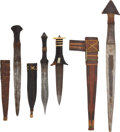 Edged Weapons:Knives, Lot of Four Assorted Sudanese Daggers.... (Total: 4 Items)