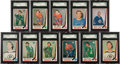 Hockey Cards:Lots, 1969/70 O-Pee-Chee Hockey SGC Graded Collection (11). ...