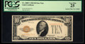 Small Size:Gold Certificates, Fr. 2400* $10 1928 Gold Certificate. PCGS Very Fine 25.. ...
