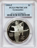 Modern Issues: , 1995-P $1 Olympic/Gymnastics Silver Dollar PR67 Deep Cameo PCGS.PCGS Population (24/1801). NGC Census: (5/1925). Numismed...