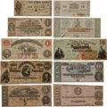 Antiques:Antiquities, Lot of 10 Assorted Pieces of Confederate Civil War Currency....(Total: 11 )