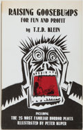 Books:Horror & Supernatural, T. E. D. Klein. SIGNED/LIMITED. Raising Goosebumps for Fun andProfit. Round Top: Footsteps Press, [1988]. First...