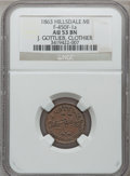 Civil War Merchants, 1863 J. Gottlieb, Hillsdale, MI, F-450F-4a, R.9, AU53 NGC....