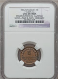 Civil War Merchants, 1863 S. Holland & Son, Jackson, MI, F-525A-1a, R.7 --Environmental Damage -- NGC Details. Unc. ...