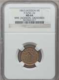 Civil War Merchants, 1863 William Jackson, Jackson, MI, F-525C-7d, R.10, MS64 NGC. ...