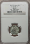 Civil War Merchants, 1863 The Tea Store, Detroit, MI, F-225CE-2i, R.9, MS65 NGC....