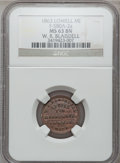 Civil War Merchants, 1863 W.R. Blaisdell, Lowell, MI, F-580A-2a, R.7, MS63 Brown NGC....