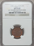 Civil War Merchants, (1861-65) L.F. Heath, Lyons, MI, F-587C-1a, R.6, MS64 Brown NGC....