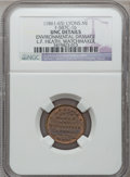 Civil War Merchants, (1861-65) L.F. Heath, Lyons, MI, F-587C-1b, R.7 -- EnvironmentalDamage -- NGC Details. Unc. ...