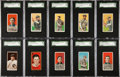 Baseball Cards:Lots, 1910-Era T202, T205, T206 and T207 Chicago Cubs Collection (67)....