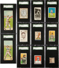 Baseball Cards:Lots, 1907-1914 Era Chicago Cubs Mini-Type Card Collection (14). ...