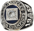 Baseball Collectibles:Others, 1959 Los Angeles Dodgers World Championship Ring Presented to JerryDoggett....