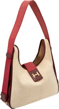 Luxury Accessories:Bags, Heritage Vintage Hermes H Logo Canvas Toile & Leather TaskoTote. ...