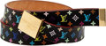 Luxury Accessories:Accessories, Heritage Vintage Louis Vuitton Cut Monogram Multicolore Belt. ...