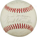 Autographs:Baseballs, 1964 Yankee Stadium Old Timers' Day Signed Baseball....