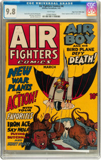 Air Fighters Comics #6 Mile High pedigree (Hillman Fall, 1943) CGC NM/MT 9.8 White pages