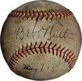 Autographs:Baseballs, 1934 Babe Ruth, Lou Gehrig & Rogers Hornsby Signed Baseball....