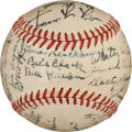 Autographs:Baseballs, 1933 Old Timer's Game Signed Baseball with Young, Foxx, Baker....
