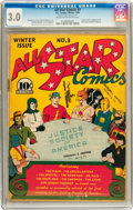 Golden Age (1938-1955):Superhero, All Star Comics #3 (DC, 1940) CGC GD/VG 3.0 Cream to off-white pages....