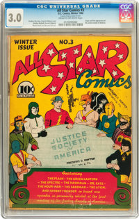 All Star Comics #3 (DC, 1940) CGC GD/VG 3.0 Cream to off-white pages