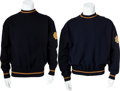 Football Collectibles:Uniforms, 1937-39 Ben Sheridan Notre Dame Fighting Irish Warm-up Sweater and circa 1930's Sweater from Unknown Player....
