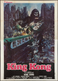 "Movie Posters:Horror, King Kong (Titanus, 1976). Italian 4 - Foglio (55"" X 78""). Style B. Horror.. ..."