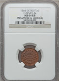 Civil War Merchants, 1864 Messmore & Lucking, Detroit, MI, F-225AY-3a, R.10, MS64Red and Brown NGC. ...