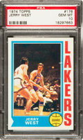 Basketball Cards:Singles (1970-1979), 1974 Topps Jerry West #176 PSA Gem Mint 10 - One of Three! ...