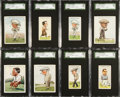 """Golf Cards:General, 1931 Churchman's """"Prominent Golfers"""" Small and Large Complete Set Pair (2). ..."""