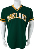 Baseball Collectibles:Uniforms, 1983 Carney Lansford Game Worn Oakland Athletics Jersey....