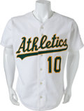 Baseball Collectibles:Uniforms, 1987 Tony LaRussa Game Worn Oakland Athletics Jersey....