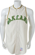 Baseball Collectibles:Uniforms, 1968 Danny Cater Game Worn Oakland Athletics Jersey....