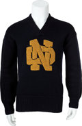 Football Collectibles:Uniforms, 1926-28 Jerry Ransavage Notre Dame Fighting Irish Sweater....