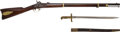 "Long Guns:Muzzle loading, Scarce U.S. Remington Model 1863 ""Zouave"" Percussion Contract Rifle with Sword Bayonet and Scabbard.... (Total: 3 Items)"
