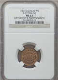 Civil War Merchants, 1864 Raymond's Photographic Gallery, Detroit, MI, F-225BH-3d, R.9,MS63 NGC. . ...